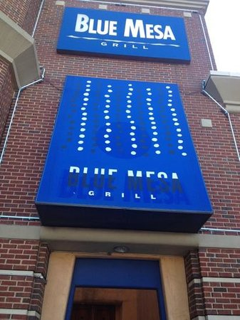 Blue Mesa Grill: look for the blue awning