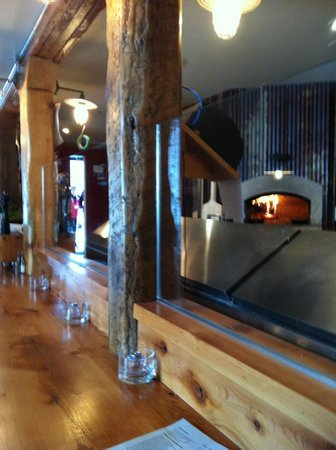 Bruce Wine Bar:                   The brick oven