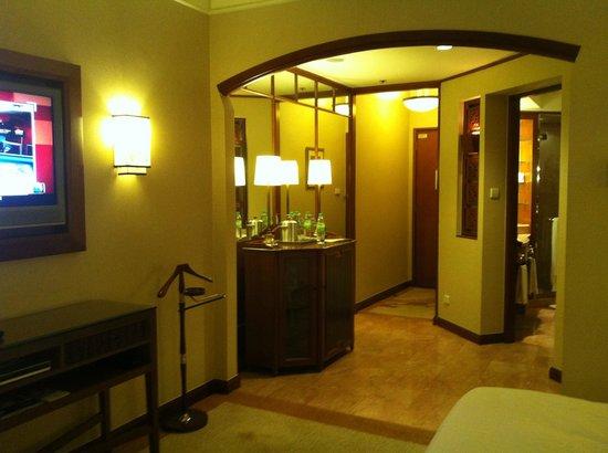 Sheraton Imperial Kuala Lumpur Hotel:                   room entrance and bathroom