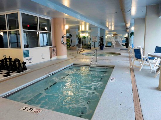Indoor Hot Tub With Kidde Pool In Background Picture Of Paradise Resort Myrtle Beach Tripadvisor