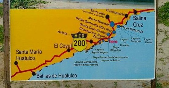 how to arrive in cocoleoco map Picture of Cocoleoco Salina Cruz