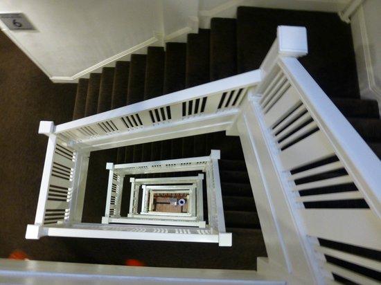 Hotel Vertigo:                   The infamous stairway