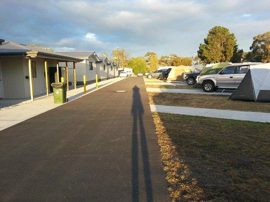 Hobart Airport Tourist Park: Park view