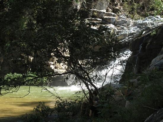Los Naranjos Retreat:                   the water fall up river from Los Naranjos