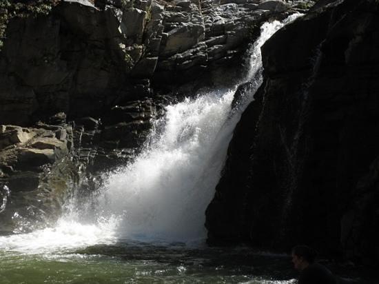 Los Naranjos Retreat:                   the falls up river from Los Naranjos                 