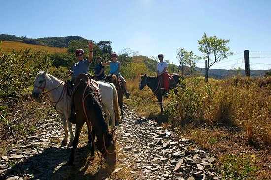 Adventure Park and Hotel Vista Golfo: On the trail with the horses.