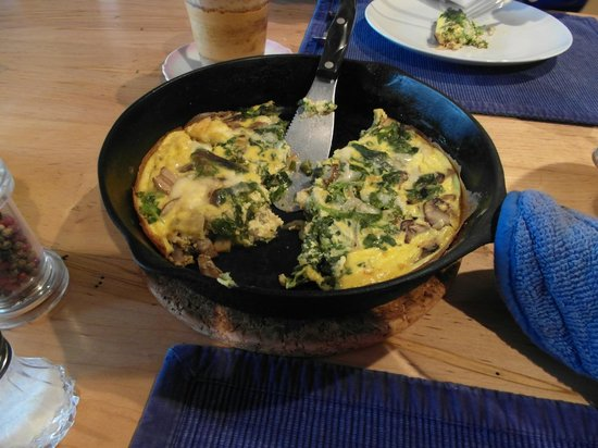 Belle Meade Bed and Breakfast:                   Breakfast- vegetarian frittata