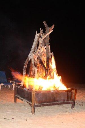 Dreams Punta Cana Resort & Spa:                   Bonfire on the Beach