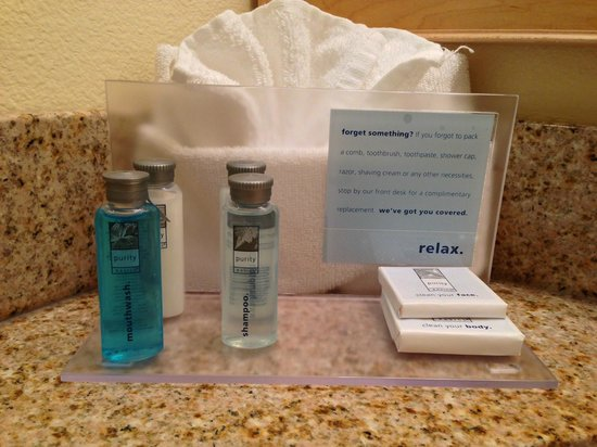 Hampton Inn & Suites San Jose: Provided toiletries