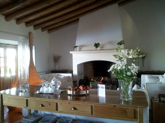 Herdade da Malhadinha Nova - Country House & Spa:                   Fireplace