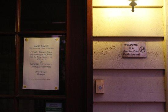 Adamson's Riverside Accommodation:                   Non smoking?? I don't think so!                 