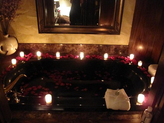 The Chanler at Cliff Walk:                   The huge bath that's situated next to the bed in the Tudor Room