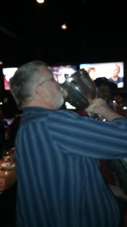 Jack Astor's: Sipping champagne from the Grey Cup