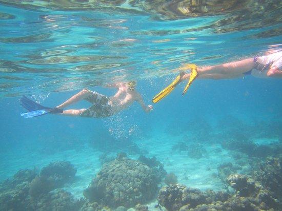 St. John Yacht Charters Survivan:                   The kids enjoying the snorkel                 