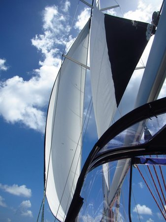 St. John Yacht Charters Survivan:                   Under sail