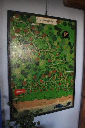 La Leona Eco Lodge: Übersichtsplan