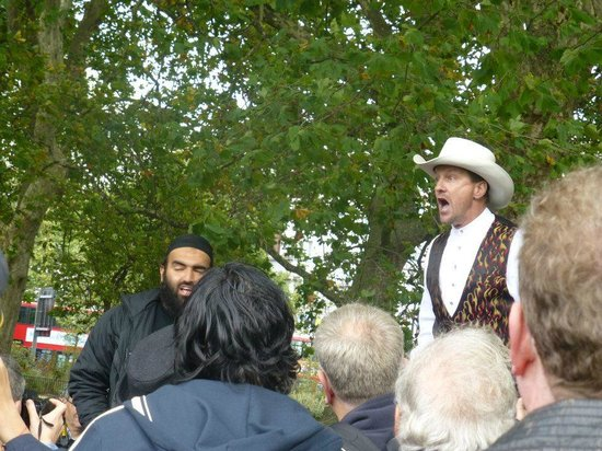 Speakers' Corner:                   Speakers Corner on a Sunday