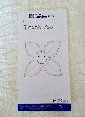Hilton Garden Inn Fairfax: A nice little touch. 