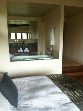 Gwinganna Lifestyle Retreat:                   bathroom - you can see all the way to Surfers while in the tub