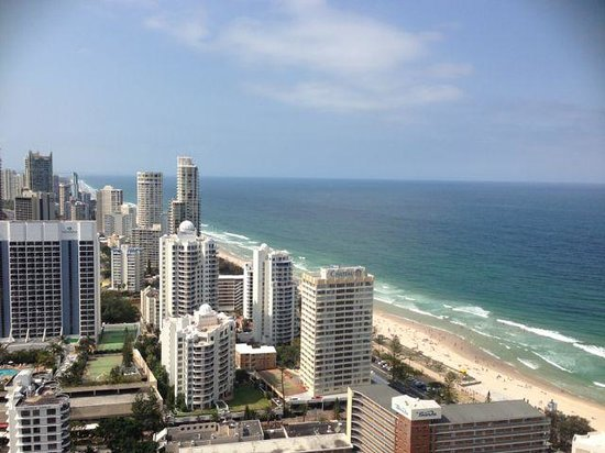 Hilton Surfers Paradise: view from our room