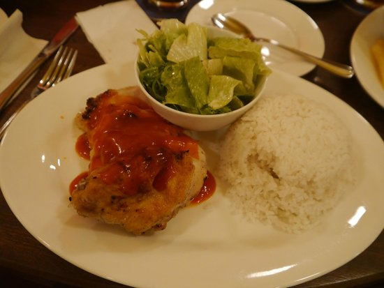 Luigi Malone's: BBQ chicken with rice