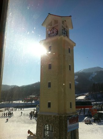 Club Med Yabuli:                   The famous Clock tower