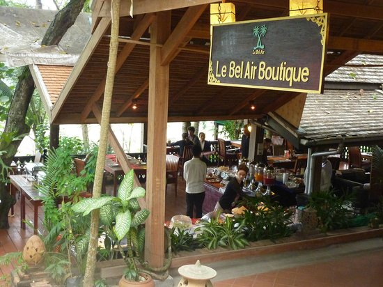 Le Bel Air Boutique Resort:                   Restaurant, bar and dinner area
