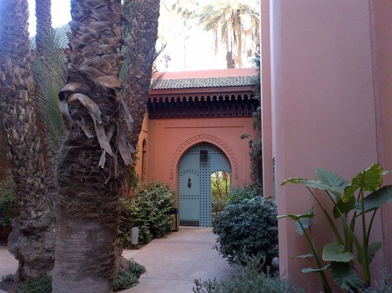 Royal Mansour Marrakech:                   the hotels garden prior room entry