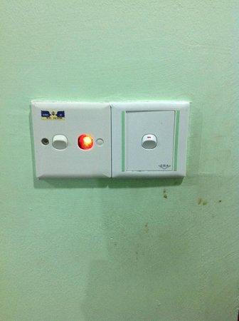 Purnama Beach Resort:                   Grease stains and what else around the light switch
