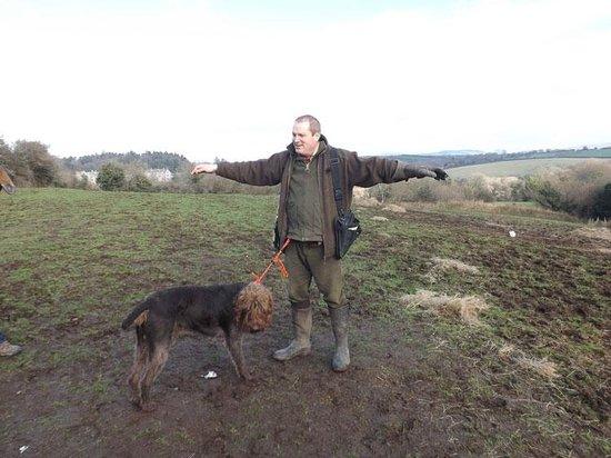 Dartmoor Hawking Falconry Experience: Martin and his ginger mut Boris