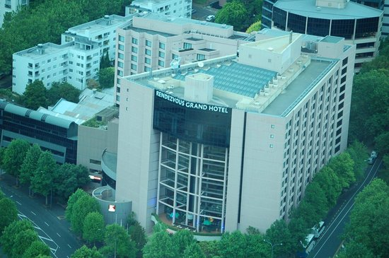 Rendezvous Hotel Auckland:                                     View from Skytower