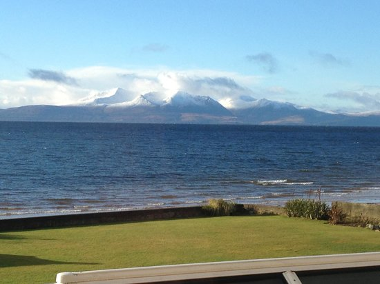 Seamill Hydro:                   Arran seen from room