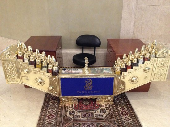 The Ritz-Carlton, Istanbul :                   The shoe shine stand!