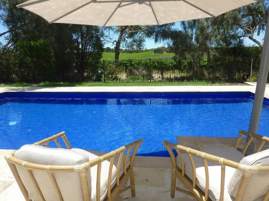 Amande Bed & Breakfast: Our new pool set amongst the vines