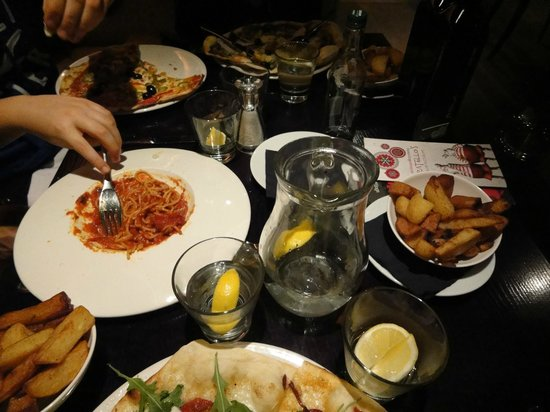 Fratello's: really nice food.