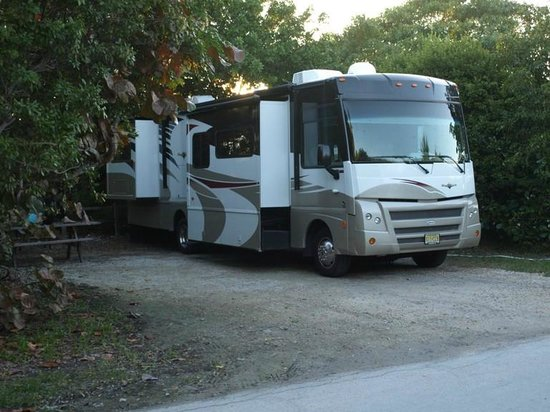 Bahia Honda State Park Campgrounds: Typical RV Campsite