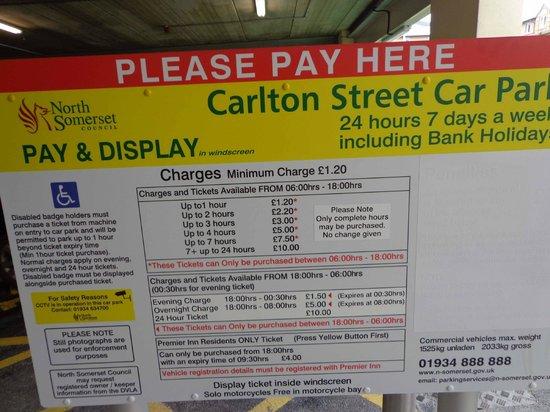 Carlton Street Car Park Weston Super Mare Charges