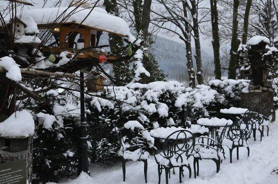 Hostellerie La Cheneaudiere - Relais & Chateaux: Terrasse hôtel