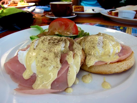 Cafe Encounter: eggs benedict...not bad (: