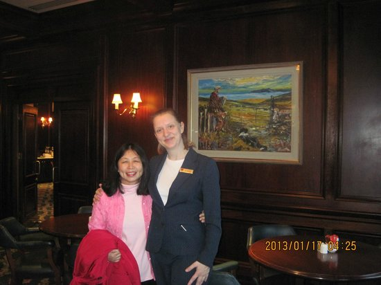 Adare Manor:                   our wonderful manager lady @ the restaurant