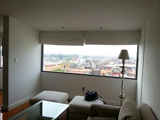San Leonardo Puebla:                                                       Bonita vista desde el piso 7