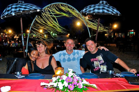The Zala Villa Bali:                   Dinner in the restaurant with Ida & Andrej
