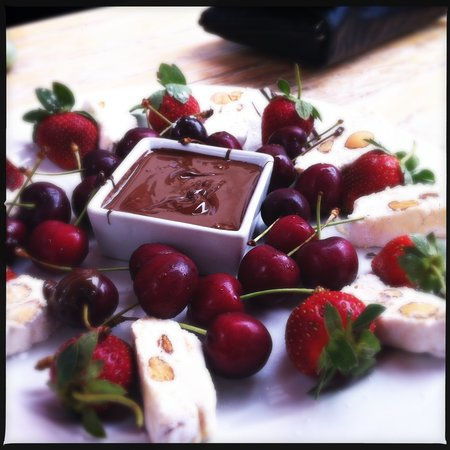 Quo Restaurant: belgian chocolate and nougat platter…