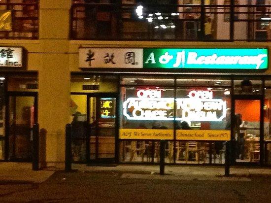 A & J Restaurant:                   Store front.
