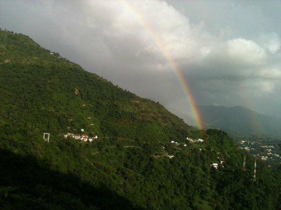 Image result for rainbow over Mussoorie pic
