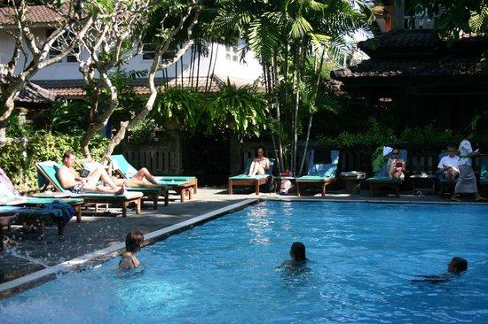 โรงแรมปูริ แบมบู: Agréable piscine