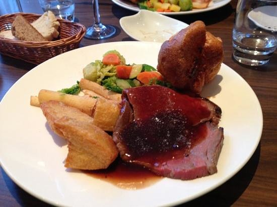 Brasserie Bleue:                   Beautifully cooked Roast Beef