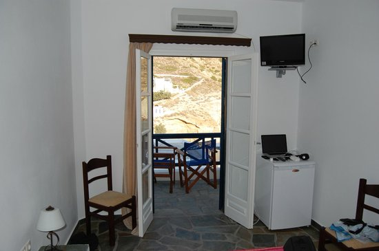 Pasithea Folegandros:                   View from the room looking out