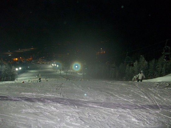 Alpina Hotel:                   night skiing (lousy picture)