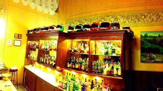 Palace Grand Hotel:                   Helmets at the bar